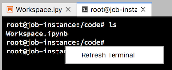 refresh terminal