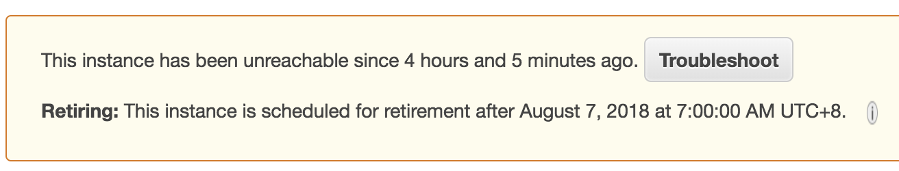 AWS EC2 Retiring: This instance is scheduled for retirement